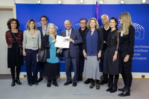 "Martin SCHULZ - EP President meets with the delegation of ""For a Thousand lives: Be human"""